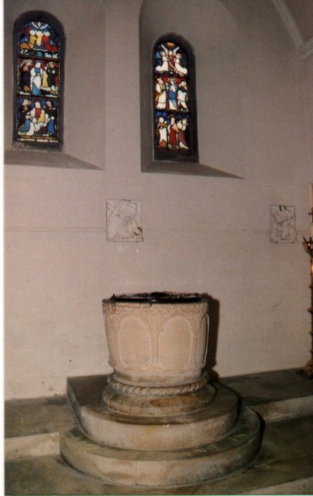 The Saxon Font  - St Andrews Clewer - Windsor