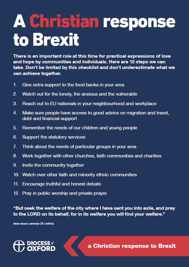 A Christian response to Brexit